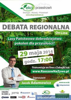 Debata EkoPrzestrzeni o Lasach Państwowych w lesie
