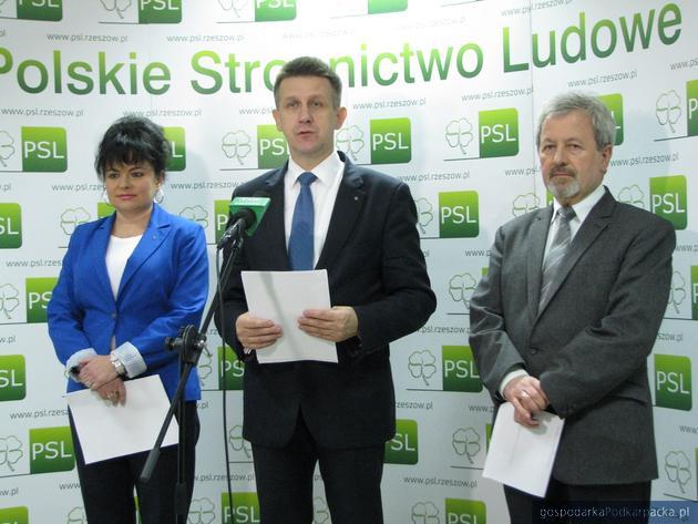 Od lewej Justyna Sokołowska, Jan Bury i Zygmunt Sosnowski. Fot. Adam Cyło