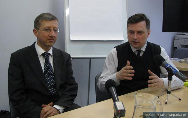 Od lewej prof. Jan Olszewski i Dawid Lasek. Fot. Adam Cyło